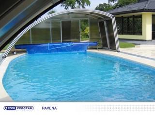 zkosené zastřešení bazénů