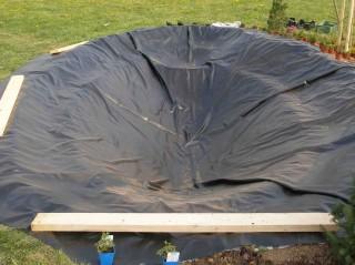 izolace vody do zahradního jezírka