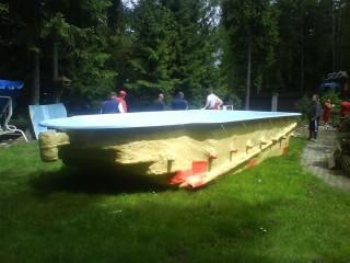 laminátové bazény před osazením