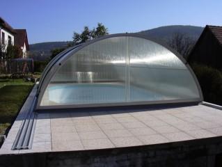plastové bazény - zastřešení